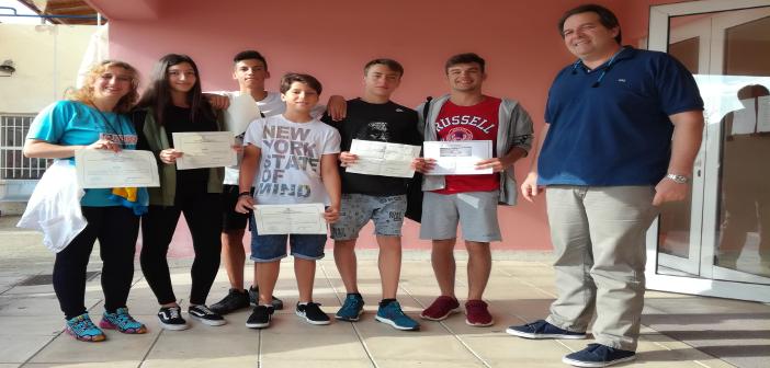 Πρωτιές και διακρίσεις για τους μαθητές του 3ου Γυμνασίου Λαμίας στους αγώνες κολύμβησης 2017-2018